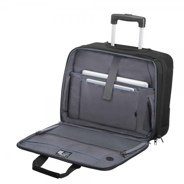 Samsonite Vectura Evo Rolling Tote 17.3'' black Zachte koffer van Polyester