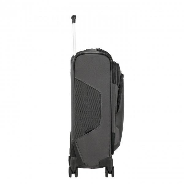 Samsonite X'Blade 4.0 Spinner 55 Strict Toppocket grey/black Zachte koffer van Polyester