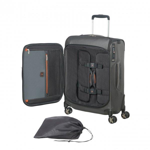 Samsonite X'Blade 4.0 Spinner 55 Strict Toppocket grey/black Zachte koffer