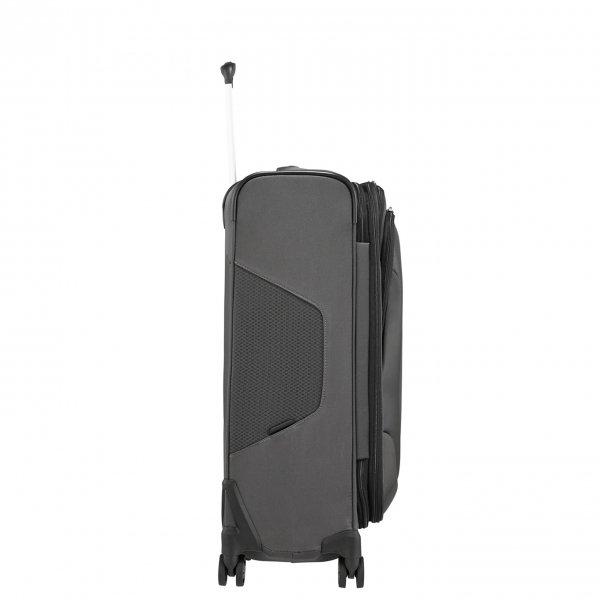 Samsonite X'Blade 4.0 Spinner 63 Exp grey/black Zachte koffer van Polyester