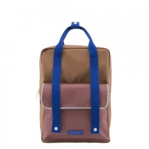 Sticky Lemon Deluxe Backpack Large sugar brown / hotel brick / ink blue Kindertas