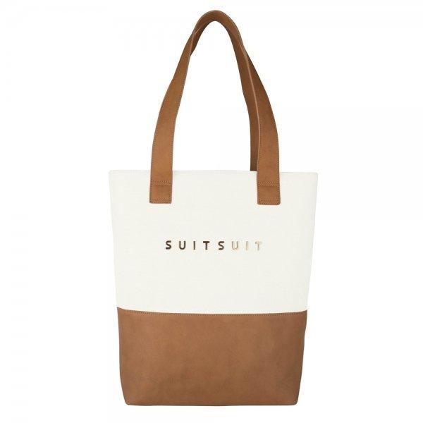 SuitSuit Fab Seventies Upright Bag antique white Damestas