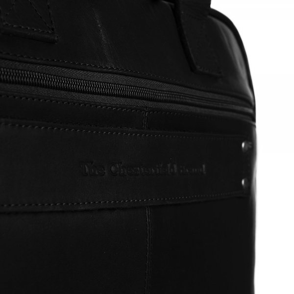 The Chesterfield Brand Calvi Laptoptas 15.6'' black van Leer