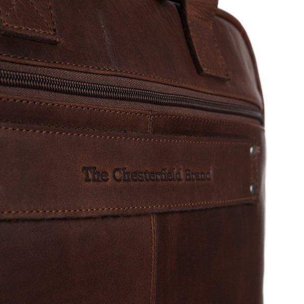 The Chesterfield Brand Calvi Laptoptas 15.6'' brown van Leer