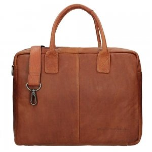 """The Chesterfield Brand Casual Briefcase 15.6"""" cognac"""