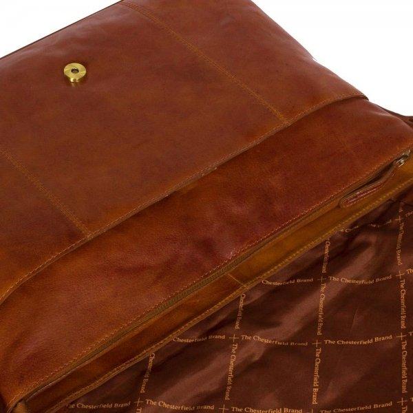 The Chesterfield Brand Maha Shoulderbag 15.4'' cognac van Leer