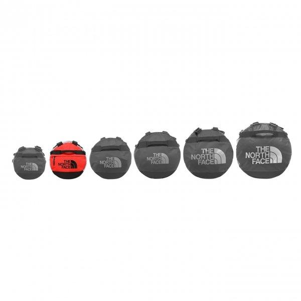 The North Face Gilman Duffel S tnf black / mid grey / fiery red Weekendtas van Polyester