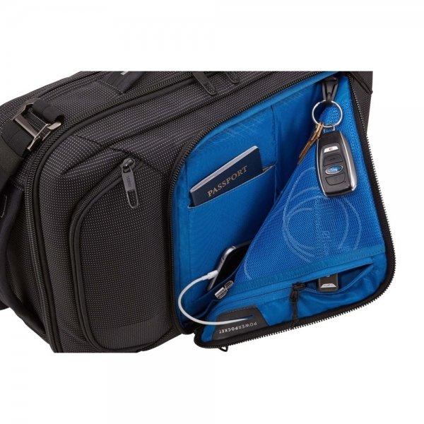 "Thule Crossover 2 Convertible Laptop Bag 15.6"" black backpack van Nylon"