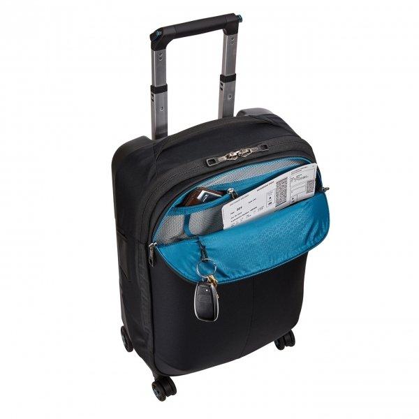 Thule Subterra Carry On Spinner black Zachte koffer van Nylon