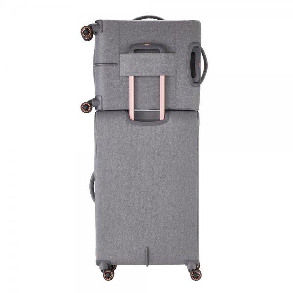 Titan Barbara 4 wiel Trolley S grey Zachte koffer van Polyester