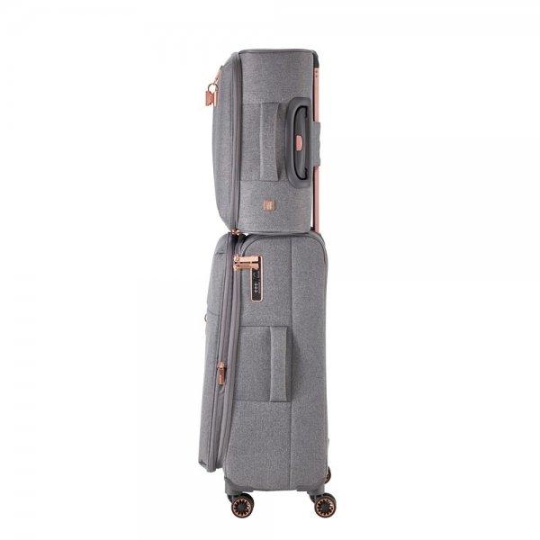 Titan Barbara 4 wiel Trolley S grey Zachte koffer