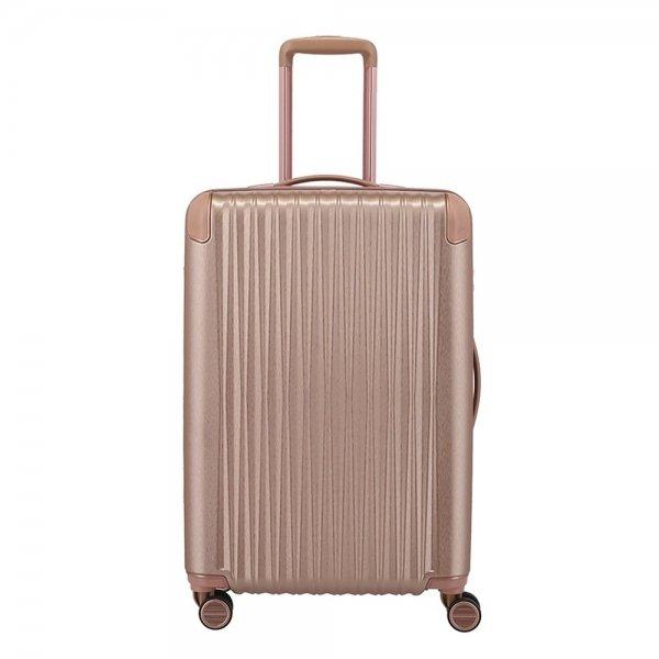 Titan Barbara Glint 4 Wiel Trolley M Expandable rose metallic Harde Koffer