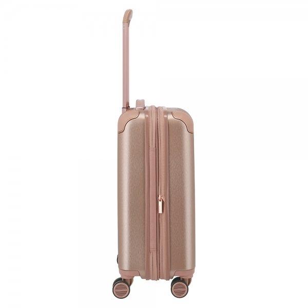 Titan Barbara Glint 4 Wiel Trolley S Expandable rose metallic Harde Koffer van Polycarbonaat