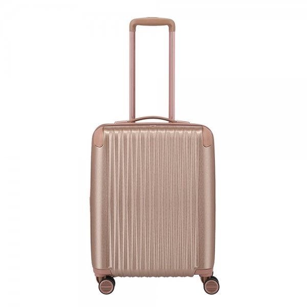 Titan Barbara Glint 4 Wiel Trolley S Expandable rose metallic Harde Koffer