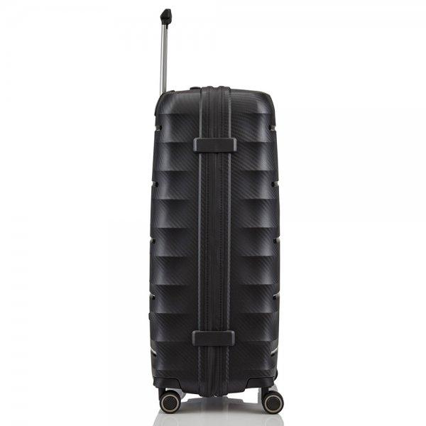 Titan Highlight 4 Wiel Trolley L black Harde Koffer van Polypropyleen