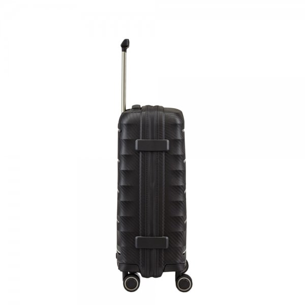 Titan Highlight 4 Wiel Trolley S black Harde Koffer van Polypropyleen