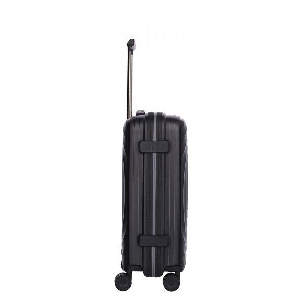 Titan Looping 4 Wiel Cabin Trolley S black Harde Koffer van Polypropyleen