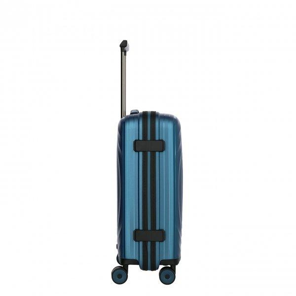 Titan Looping 4 Wiel Cabin Trolley S petrol Harde Koffer van Polypropyleen
