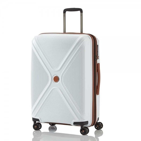 Titan Paradoxx 4 Wiel Trolley M Expandable white Harde Koffer