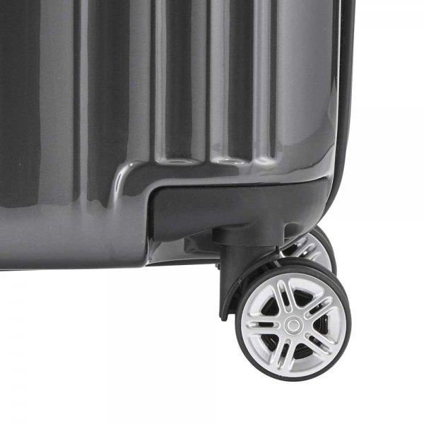 Titan Spotlight Flash 4 Wiel Trolley L antracite Harde Koffer van Polycarbonaat
