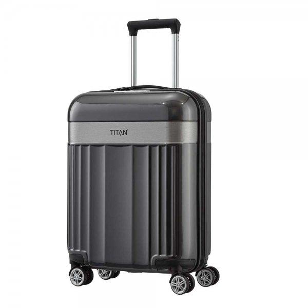 Titan Spotlight Flash 4 Wiel Trolley S antracite Harde Koffer van Polycarbonaat