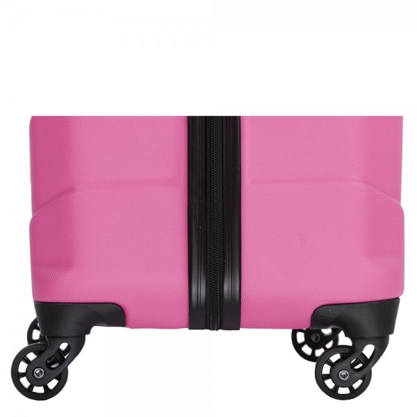 Travelbags Barcelona 2 Delige Trolley Set dark pink