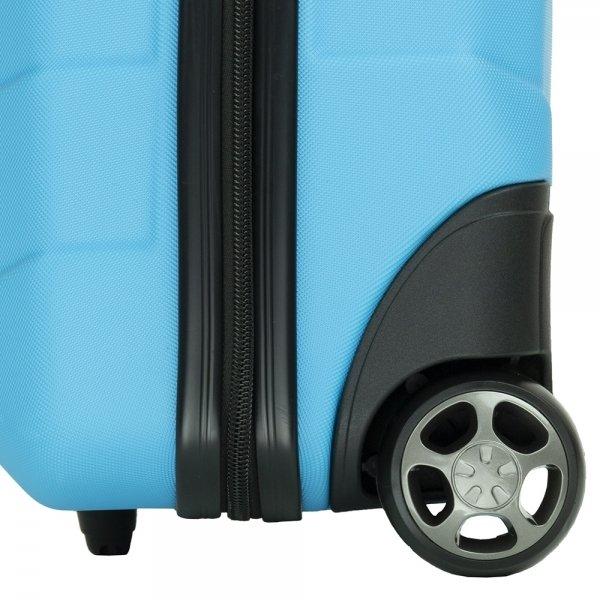 Travelbags Barcelona Handbagage koffer - 55 cm - 2 wielen - sky blue Harde Koffer van ABS