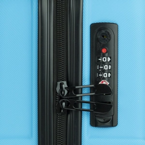Travelbags Barcelona Handbagage koffer - 55 cm - 2 wielen - sky blue Harde Koffer