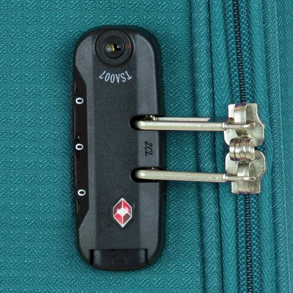 Travelbags Lissabon Koffer - 67 cm - 4 wielen - jade Zachte koffer