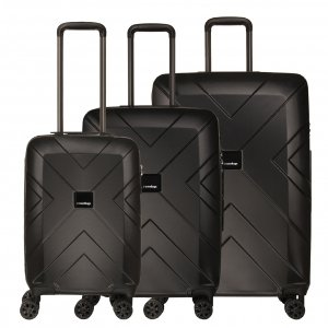 Travelbags Londen 3 Delige Trolley Set black