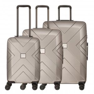 Travelbags Londen 3 Delige Trolley Set champagne