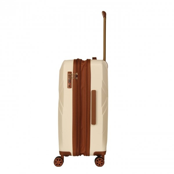 Travelbags Parijs 4 Wheel Trolley 64 off white Harde Koffer van ABS
