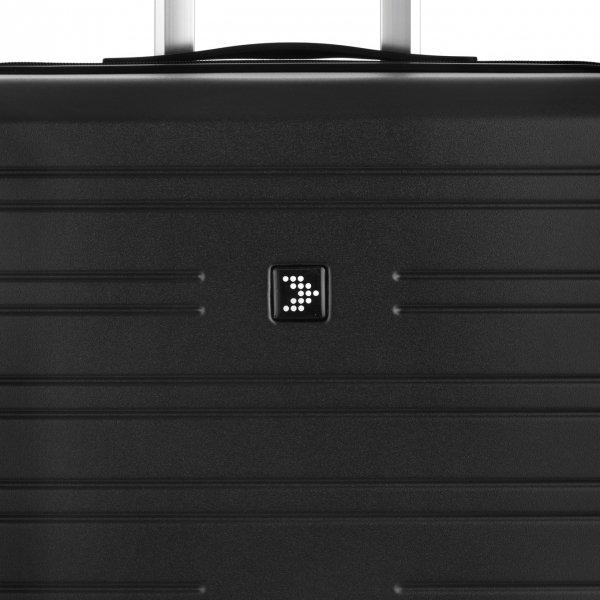 Travelbags Premium Koffer - 64 cm - 4 wielen - black Harde Koffer van Polypropyleen