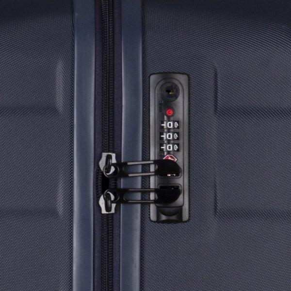 Travelbags Stockholm 3 Delige Trolley Set navy van Polycarbonaat