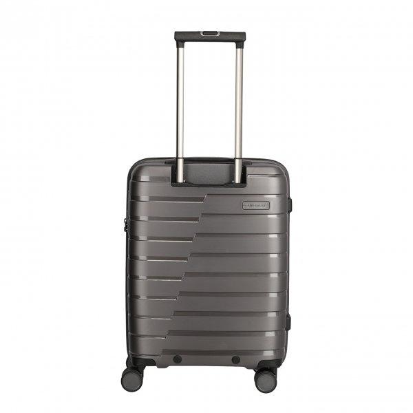 Travelite Air Base 4 Wiel Trolley S anthracite Harde Koffer van Polypropyleen