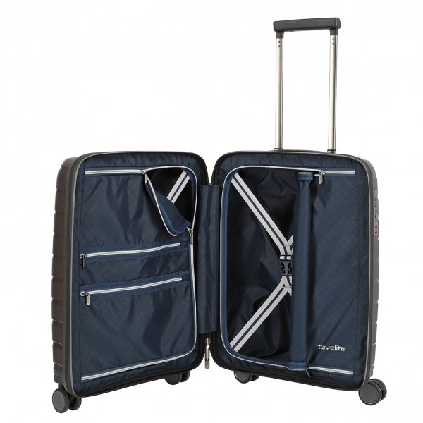 Travelite Air Base 4 Wiel Trolley S anthracite Harde Koffer