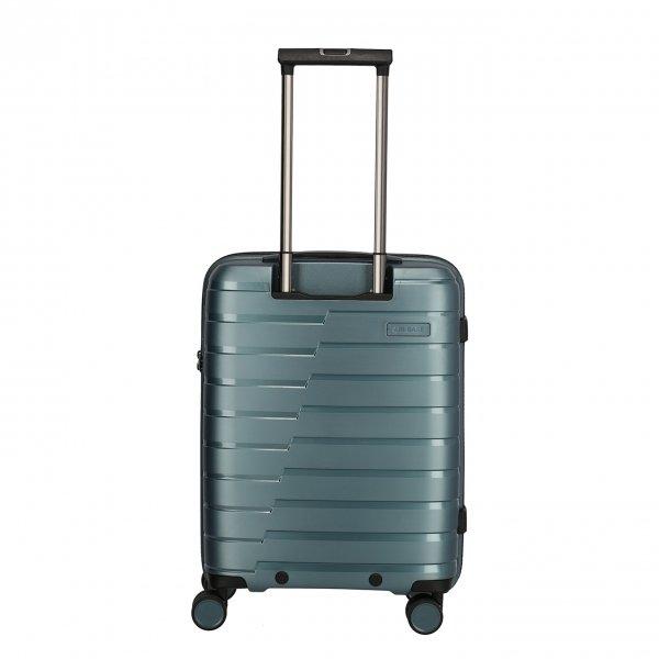Travelite Air Base 4 Wiel Trolley S ice blue Harde Koffer van Polypropyleen