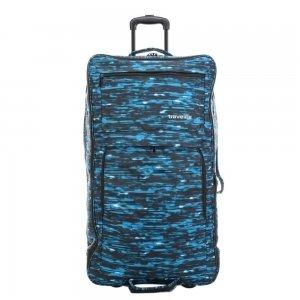 Travelite Basics Doubledecker Duffle blue print Trolley Reistas