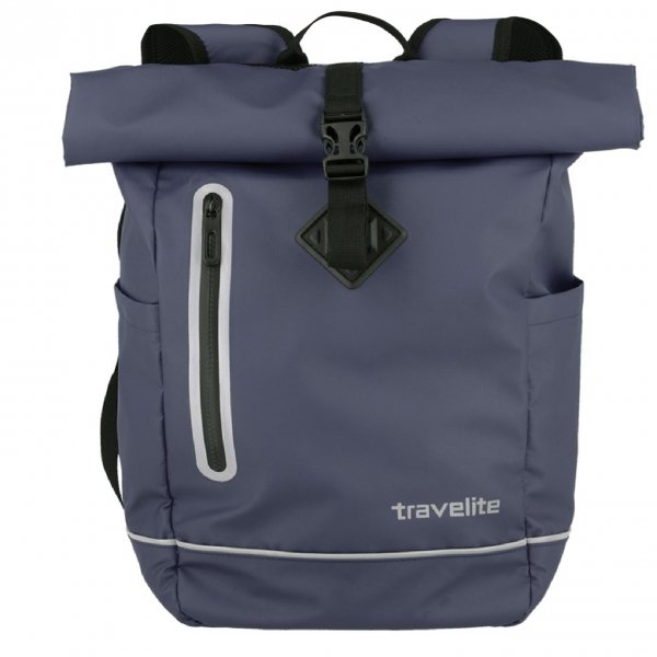 Travelite Basics Roll-Up Backpack marine blue Rugzak