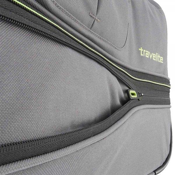 Travelite Basics Wheeled Duffle 70 Expandable black / blue Trolley Reistas