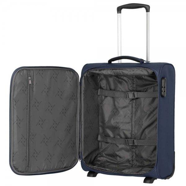 Travelite Cabin 2 Wiel Boardtrolley bordeaux Zachte koffer van Polyester