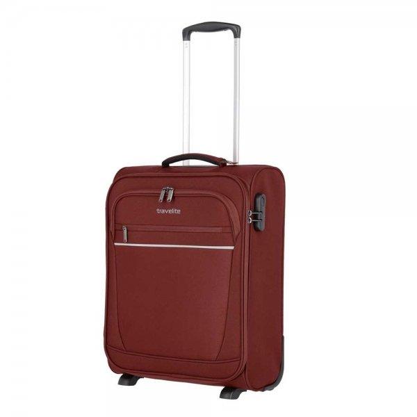 Travelite Cabin 2 Wiel Boardtrolley bordeaux Zachte koffer