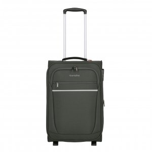Travelite Cabin 2 Wiel Trolley S Expandable anthracite Zachte koffer