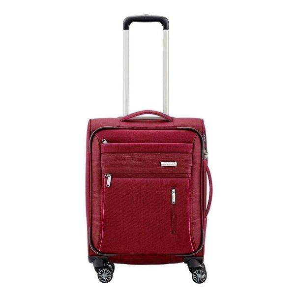 Travelite Capri 4 Wiel Trolley S red Zachte koffer