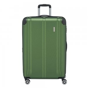 Travelite City 4 Wiel Trolley L Expandable green Harde Koffer