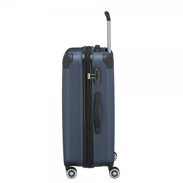 Travelite City 4 Wiel Trolley M Expandable navy Harde Koffer van ABS