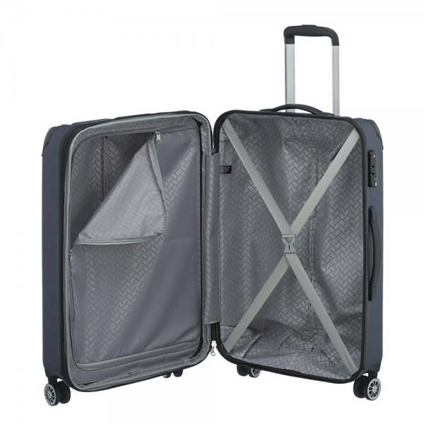 Travelite City 4 Wiel Trolley M Expandable navy Harde Koffer