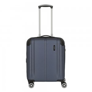 Travelite City 4 Wiel Trolley S Expandable navy Harde Koffer