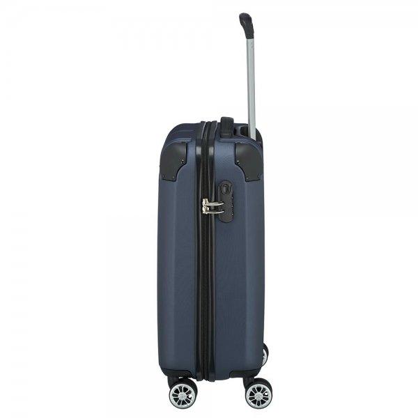 Travelite City 4 Wiel Trolley S navy Harde Koffer van ABS