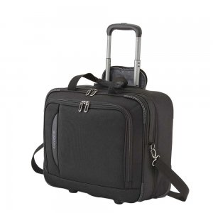 Travelite Crosslite Businesswheeler black Pilotenkoffer